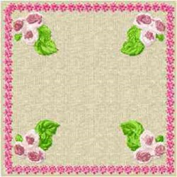 Quilt Floral Block embroidery design