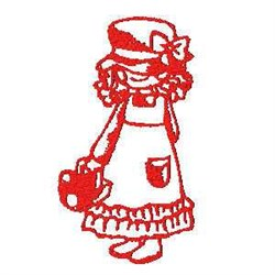Easter Girl embroidery design