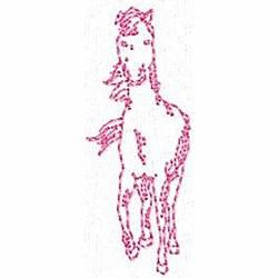 Redwork Pony embroidery design