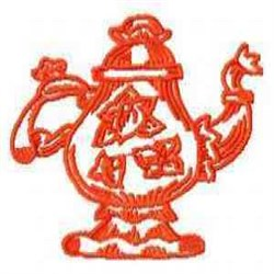 Red Work Pitcher embroidery design