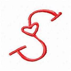 Valentine Alphabet S embroidery design