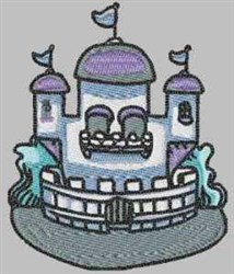 Medieval Castle embroidery design