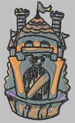 Castle Fort embroidery design