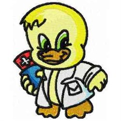 Doctor Duck embroidery design