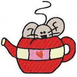 Mouse In Kettle embroidery design