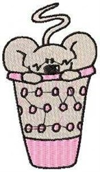 Mouse In Thimble embroidery design