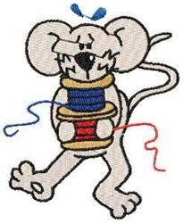 Mouse & Thread embroidery design