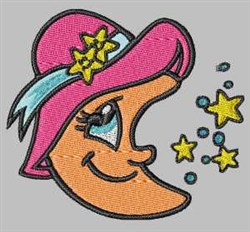 Moon In Hat embroidery design