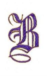 Elegant Alphabet B embroidery design