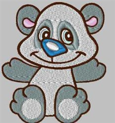 Sweet Panda embroidery design