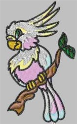Parrot In Tree embroidery design