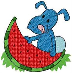 Ant & Watermelon embroidery design