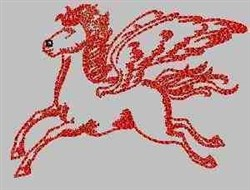 RW Flying Pegasus embroidery design