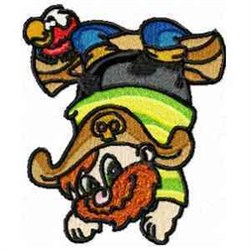 Pirate & Parrot embroidery design