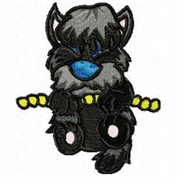 Hanging Terrier embroidery design