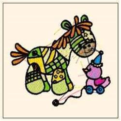 Pony & Toy embroidery design