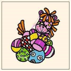 Easter Pony embroidery design