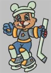 Funny Hockey Bear embroidery design