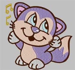 Singing Kitten embroidery design
