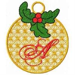 Ornament Letter A embroidery design