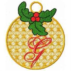 Ornament Letter G embroidery design