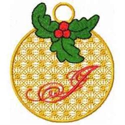 Ornament Letter J embroidery design