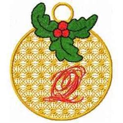 Ornament Letter Q embroidery design