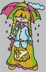 Laura Rainy Day embroidery design