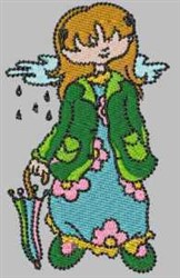 Lauras Rainy Day embroidery design