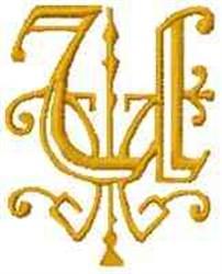 Fantasy Alphabet U embroidery design
