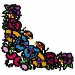 Floral Corner Edge embroidery design