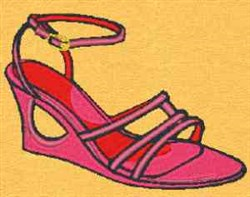 Wedge Sandal embroidery design