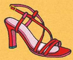 Sandal Heel embroidery design