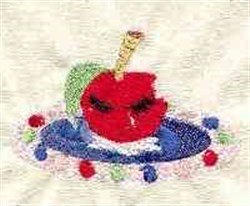 Crying Apple embroidery design