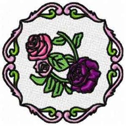 FSL Roses Circle embroidery design