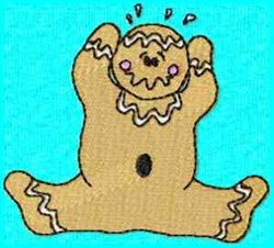 Frazzled Gingerbread embroidery design