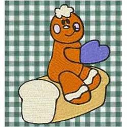 Gingerbread Loaf embroidery design