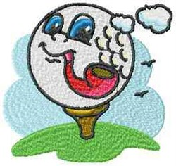 Golf Pipe embroidery design