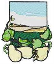 White Eggplant embroidery design