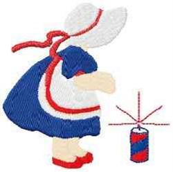 Patriotic Girl embroidery design