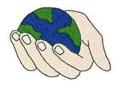 Globe Hand embroidery design