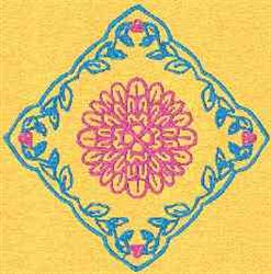 Quilt Flower embroidery design
