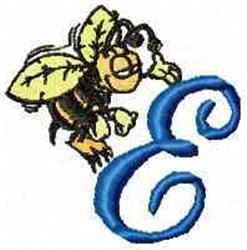 Bee Happy E embroidery design