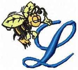Bee Happy L embroidery design