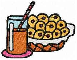 Cookies and Milk embroidery design