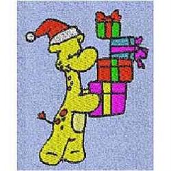 Gifts Giraffe embroidery design