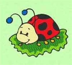 Bug Leaf embroidery design