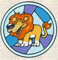 Stained Glass Lion embroidery design