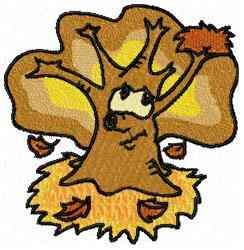 Cool Tree Fall embroidery design