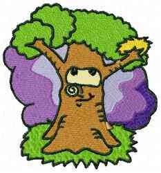 Cartoon Tree embroidery design